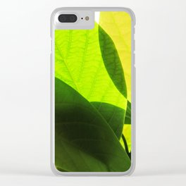 Avocado Leaves Clear iPhone Case
