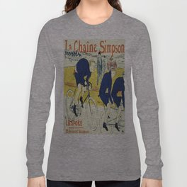 Vintage poster - La Chaine Simpson Long Sleeve T-shirt