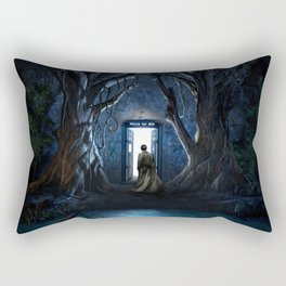 Tardis Nightmare Forest Rectangular Pillow
