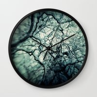chaos Wall Clocks featuring Chaos by Sharon Johnstone