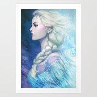 frozen Art Prints featuring Frozen by Artgerm™