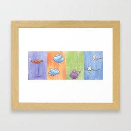 """""""Birds In A Row"""" Framed Art Print"""