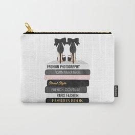 Books, Fashion books, Gray,Fashion art, fashion poster, fashion wall art, fashion illustration, fash Carry-All Pouch