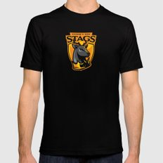 Storm' End Stags MEDIUM Mens Fitted Tee Black