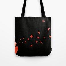 Blowing butterflies Tote Bag