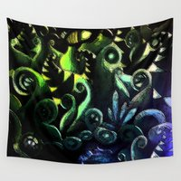 duvet cover Wall Tapestries featuring LONELY FOREST DUVET COVER by aztosaha