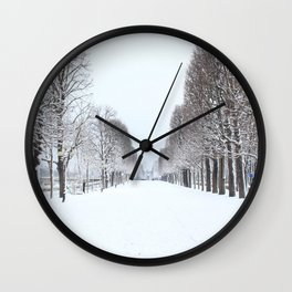 Tree avenue,Paris Wall Clock