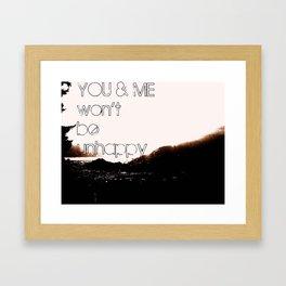 YOU&ME Framed Art Print