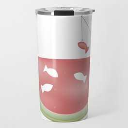 Watermelon fishing Travel Mug
