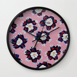 July Rose Wall Clock