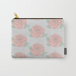 Pretty Roses Pattern Carry-All Pouch
