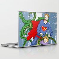 superman Laptop & iPad Skins featuring SUPERMAN by • PASXALY •