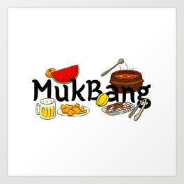 Funny Minhwa: MukBang Art Print