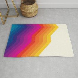 Seventies rainbow stripes Rug