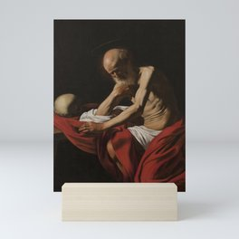 Saint Jerome in Meditation by Caravaggio Mini Art Print