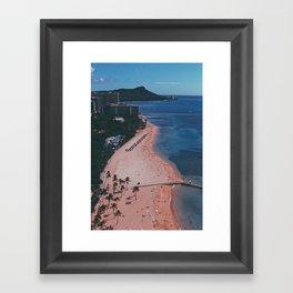 In The Sky Over Hawaii Framed Art Print