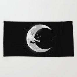 Moon Hug Beach Towel