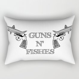 Guns n' Fishes Rectangular Pillow