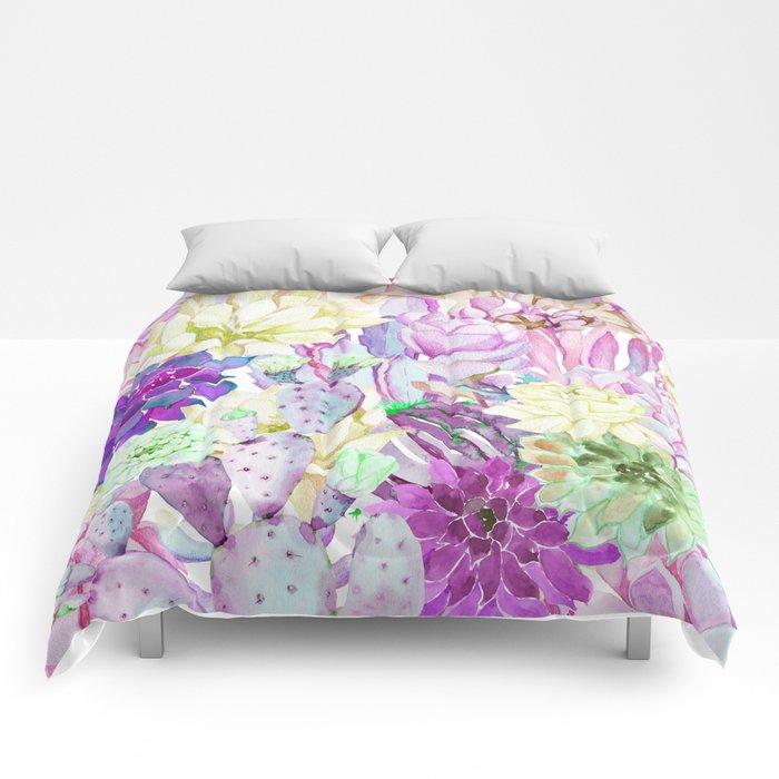 Lilac garden Comforters