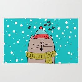 Singing cat 2 Rug