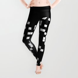 The Digital Void - Black and white abstract art Leggings