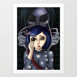 Coraline and the secret door Art Print