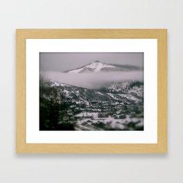 Foggy Blanket Framed Art Print