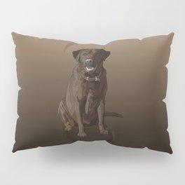 Chocolate Labrador Retriever Brown Dog Pillow Sham
