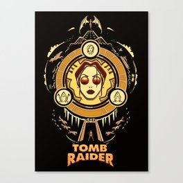 Tomb Raider I - Wheel of Adventure Canvas Print