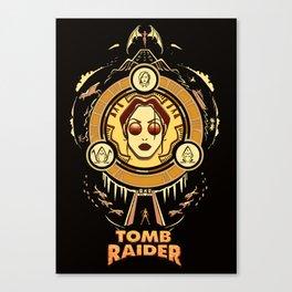 Tomb Raider I - Wheel of Adventure Canvas Print