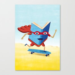 bookhero ride skateboard Canvas Print