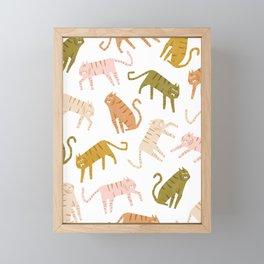 Colorful Tigers Framed Mini Art Print