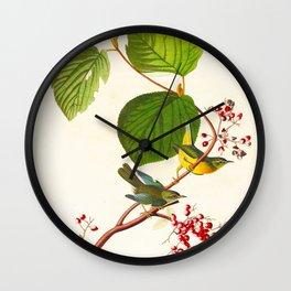 Pine Swamp Warbler Bird Wall Clock