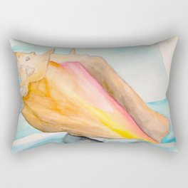 Conch Shell Watercolor Rectangular Pillow