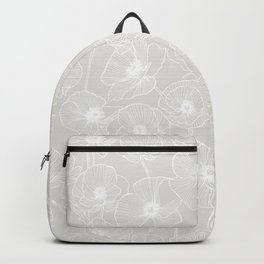 Gray Poppies Backpack
