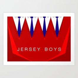 Jersey Boys Art Print