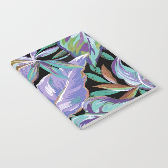 Spring tropical leaves Notebook