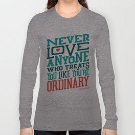 Never Ordinary - Oscar Wilde Long Sleeve T-shirt