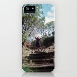 Dreaming Girl in Onshi-Hakone Park - Hakone, Japan - Holga Film Photograph iPhone Case
