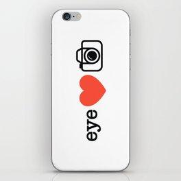 Eye Heart Photography iPhone Skin