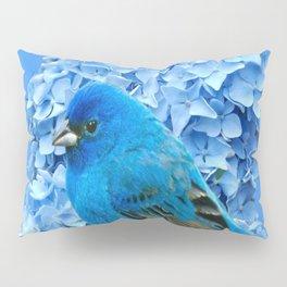 BLUE BIRD & BLUE HYDRANGEAS ART Pillow Sham