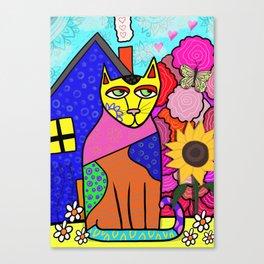 Crazy Cat Canvas Print