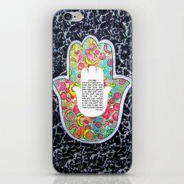 Hamsa art iPhone Skin
