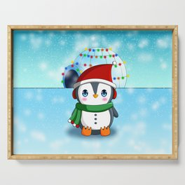 Christmas Penguin Serving Tray