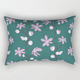 Floral Melody Rectangular Pillow