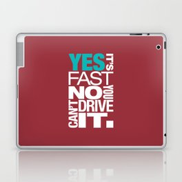 Yes it's fast No you can't drive it v2 HQvector Laptop & iPad Skin