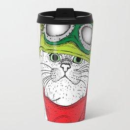 cat ride it Travel Mug
