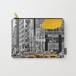 NYC Yellow Cabs - Police Car - Brush Stroke Carry-All Pouch