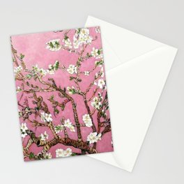 Vincent van Gogh Blossoming Almond Tree (Almond Blossoms) Pink Sky Stationery Cards