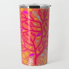 Folk Tree Travel Mug